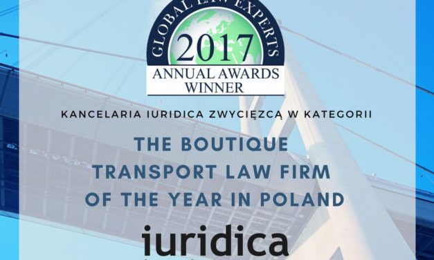 Kancelaria IURIDICA laureatem nagrody Global Law Experts