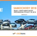 Skąd i jakie samochody sprowadzali polacy w 2018