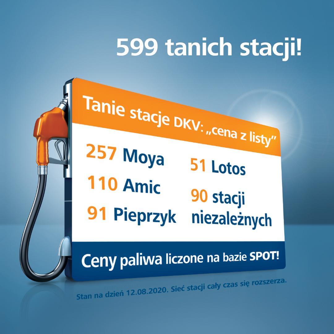 599 tanich stacji w polskiej sieci DKV